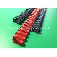 Red / Black Book Binding Combs Round Shape 19 Rings 32MM Diameter Manufactures