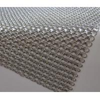 China Stainless Steel Welded Ring Decorative Mesh / Metal Ring Curtain metal room divider on sale