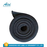 Black Fabric Casual Belt 100% Woven Printing Cotton Webbing Straps Manufactures