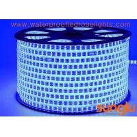China Waterproof Blue LED Rope Light AC 220V SMD2835 180D Double Line For Meeting Room on sale