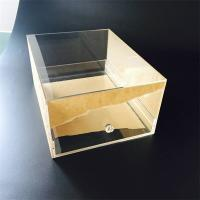 Custom Transparent Acrylic shoe box with drawer Manufactures