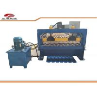 Galvanized Colored Steel Trapezoidal Sheet Roll Forming Machine Blue Color Manufactures