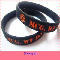 China Promotional Gifts Logo Debossed Custom Cheap Silicon Bracelet on sale