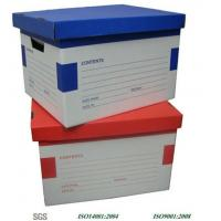 China Excellent Cardboard Packaging Boxes / Varnish Archive Box on sale