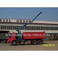 290HP Euro II Right Hand Driving Truck Mounted Crane With Straight Tescope Boom