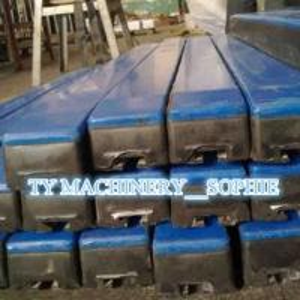 Quality rubber conveyor impact bar impact cradle for sale