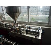 Quality Paste / Liquid Semi Automatic Filling Machine 200W Power With Two Filling Nozzles for sale