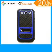 Red Protective Knuckle Cute Case For Samsung Galaxy S3, Kickstand Phone Back Case With Stand Manufactures