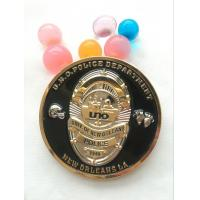 Customized 3D Round shape police challenge coin with soft enamel