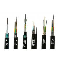 Outdoor 4 Core Glass Fiber Optic Cable GYXTW GYTA GYTS GYTA53 GYTY53 2 Manufactures