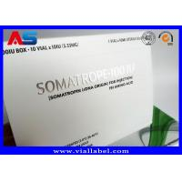 Somatropin Bodybuilding Hgh Tablets Custom Pill Box / Medicine Carton Box Manufactures