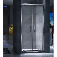 Quality Double Frameless Sliding Door Shower Enclosures Magnetic Strips Sealing for sale