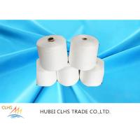 China Raw White / Dyed Poly Spun Yarn , 100 Spun Polyester Yarn For Sewing Thread on sale
