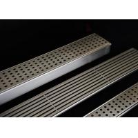 Easy Installation Stainless Steel Drain Grate With Flat Surface / Curved Grid Type Manufactures