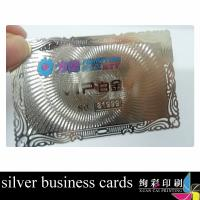 China Stainless Steel Custom Metal Business Cards , Electroplating Metal Statues Cards 0.36mm on sale