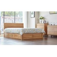 Family Tall King Size Wooden Bed Base , Solid Wood Queen Bed Frame Eco - Friendly Manufactures