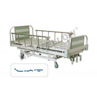 bariatric foldable single Medical Hospital Beds With Aluminum Alloy Guardrail