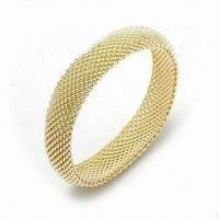 925 Sterling Silver Bangle with Fashionable Design and Gold Plating Manufactures