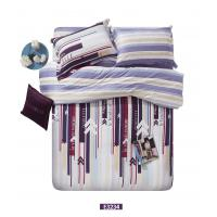 Washable Colored Sateen Bedding Sets , Cotton Vertical Design For Gift Manufactures