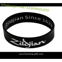 Quality Cheap black custom silicone bracelet / wristband  with debossed logo for sale