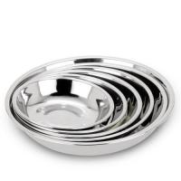 Home Stainless Steel Round Tray Beautiful Stamp Round Serving Dish For  Food Fruit Dessert Manufactures