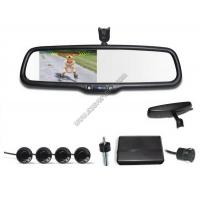 China 4.3 inch Rear view mirror Visual parking sensor CRS9437 with Reversing Camera and Sensors on sale