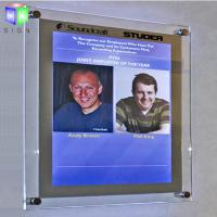 Decorative Poster Frame Acrylic Led Light Box For A2 Size Picture , Wall Mounted Manufactures