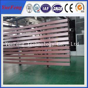 Brown color powder coating extrusion aluminium, aluminium profile extrusion Manufactures