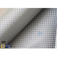 Silver Coated Fabric Aluminized Fiberglass Cloth 0.2MM 260℃ Decoration Manufactures