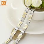 China supplier bracelet titanium magnetic jewelry gold plated,energy bracelet,fashion bracelet Manufactures