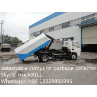 China factory sale detachable container garbage collector truck,dongfeng brand chaochai 95hp diesel roll-on and roll-off truck on sale
