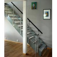 Quality Wrought Iron Straight Staircase Stainless Steel Stair Balustrade for sale