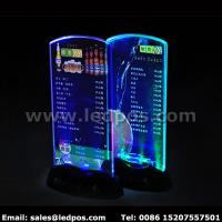 China Battery Powered LED Menu Card Sign Holder wholesale