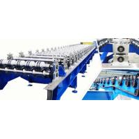 0.3 - 0.8mm PLC Steel Roof Panel Roll Forming Machine , Roofing Sheet Roll Former Manufactures