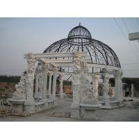 Outdoor Garden Deco stone carving marble gazebo, china marble sculpture supplier Manufactures