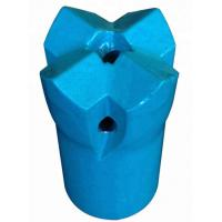 7/11/12 Degree 42mm Tapered Cutting Bit For Mining , Blue Crossdrill Bit Manufactures