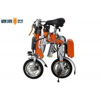 250W Folding Electric Bicycle Orange Small Commuter Electric Bike Folding Manufactures