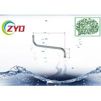 14mm Stainless Steel Wall Mounted Swing Bathroom  Facuet Spout Accessory Less PB Rotatable Chrome Faucet Water Tube Manufactures