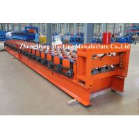 Color Steel H75 Floor Metal Deck Roll Forming Machine / Roll Former Operations Safety Manufactures