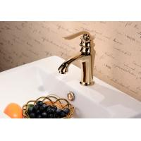 China Bathroom accessories chrome plated brass single handle bathroom faucet on sale