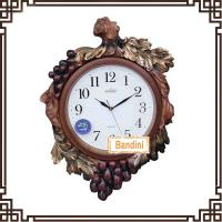 China grape shape design hanging wall clock Polyresin Modern Decorative Wall Clock H127 on sale