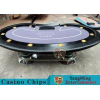 Texas Holdem Casino 10 Person Poker Table For Gambling Games Manufactures