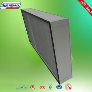 China Air Handlers High Efficiency Air Filter Aluminum Profiles Deep Pleated Fiberglass AHU on sale