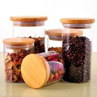350ml glass empty jar with bamboo lid Manufactures