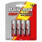LR6 AA Super Alkaline Batteries with Aluminum Jacket Manufactures