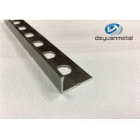 6063-T5 Aluminum Round Floor Strip Aluminium Edging Strip With Hole Punched Manufactures