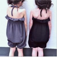 Quality Wholesale summer Girls fashion jumpsuit children customizable clothing for sale