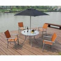 Aluminum chairs and table/garden furniture/aluminum bistro set, water-resistant Manufactures
