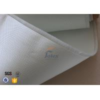 3732 0.4mm Satin Glass Fibre Cloth / Fire Resistant Fiberglass Fabric Manufactures