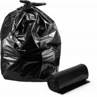 China Star Sealed Heavy Duty Waste Bags , Customized Large Black Bin Bags Roll Packed on sale